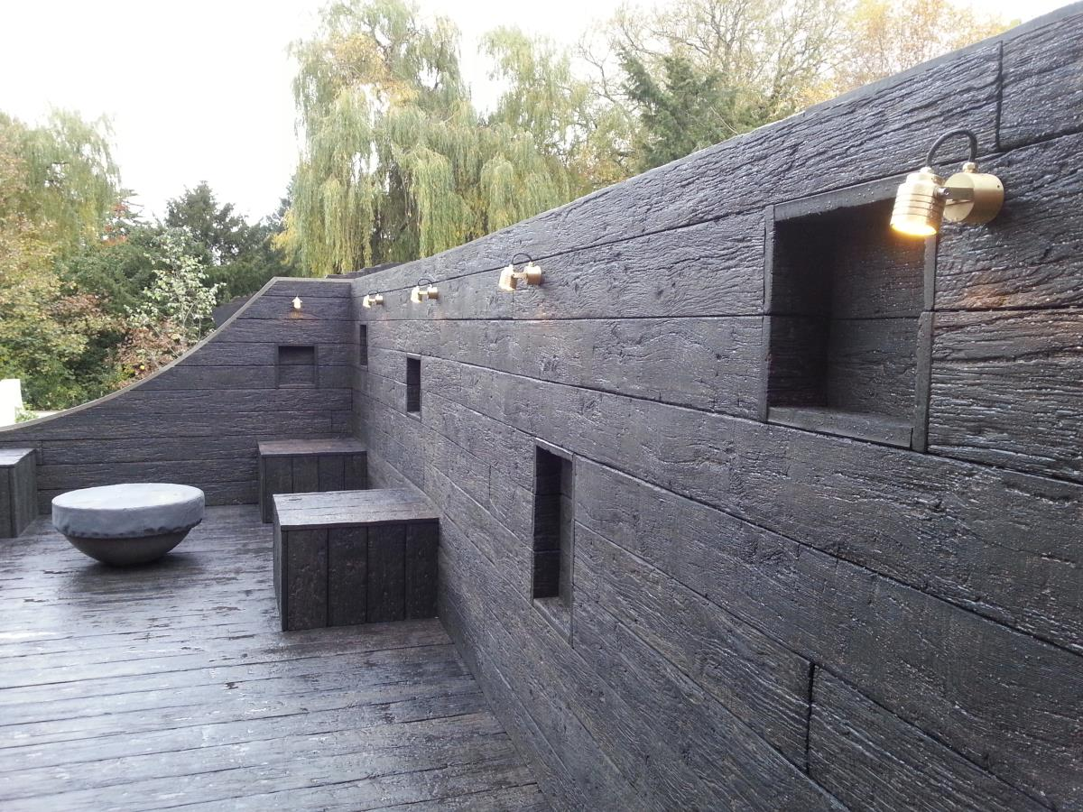 34 lengths carbonised embered millboard