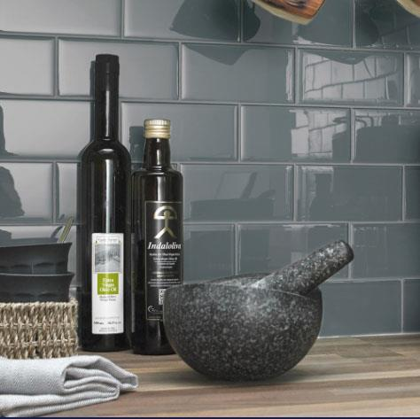 For Sale: Smoke Grey Glass Bricks - 1.87sqm £45. Great for splashbacks in kitchens and bathrooms Image 1