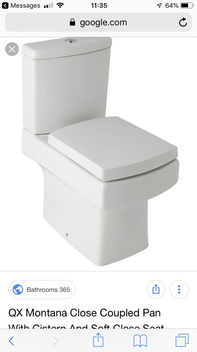 For Sale: Montana White Closed Coupled Toilet Image 1