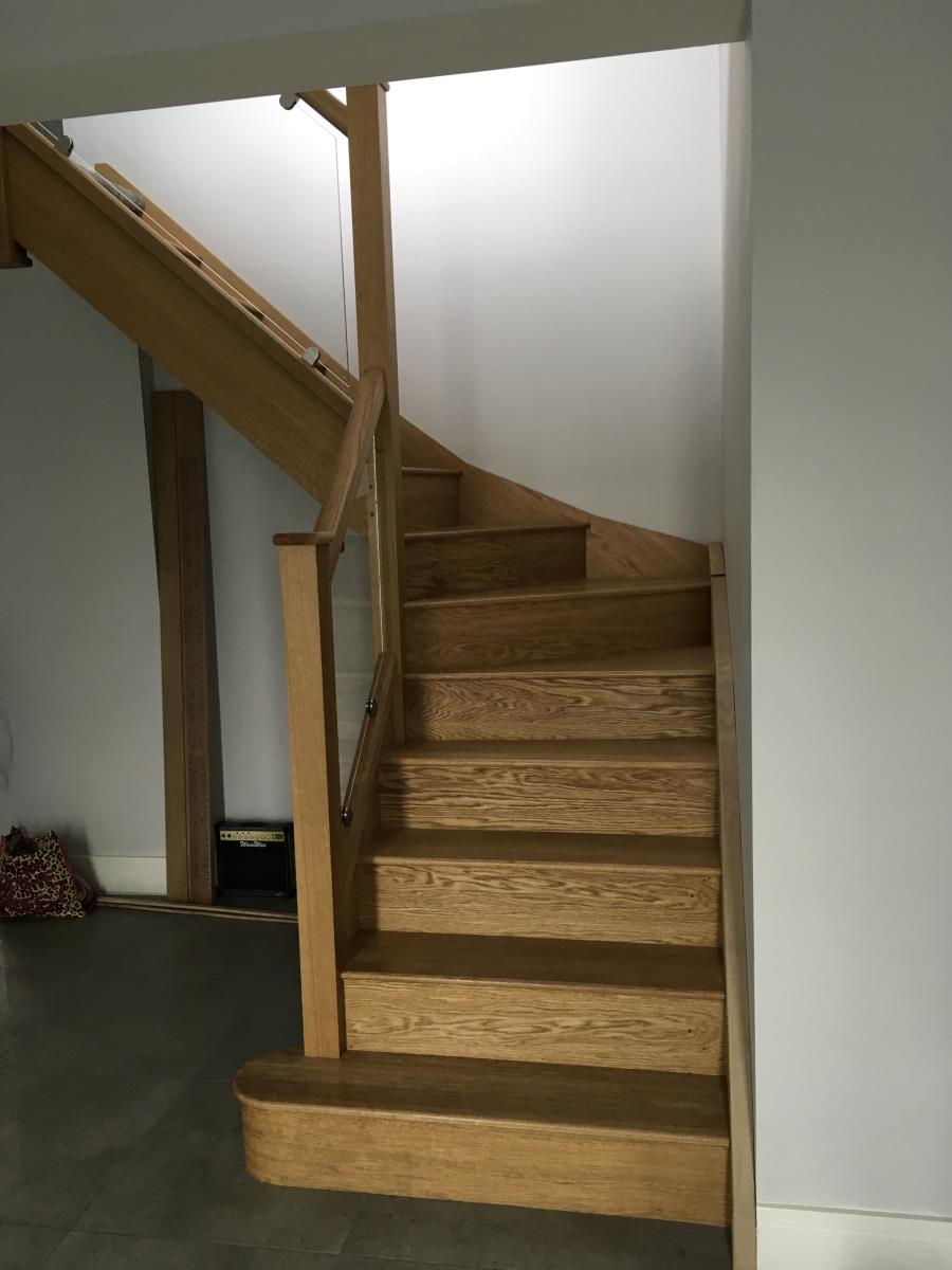 For Sale: Oak and glass staircase Image 3