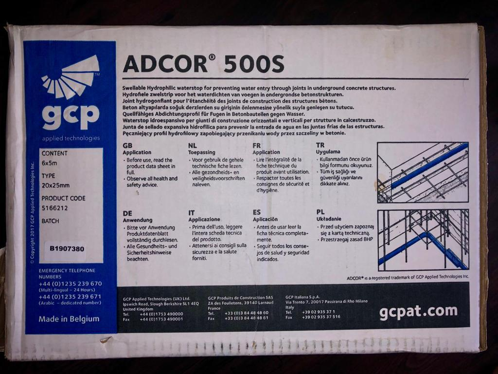 For Sale: ADCOR 500s Waterstop (5m) LONDON Image 2