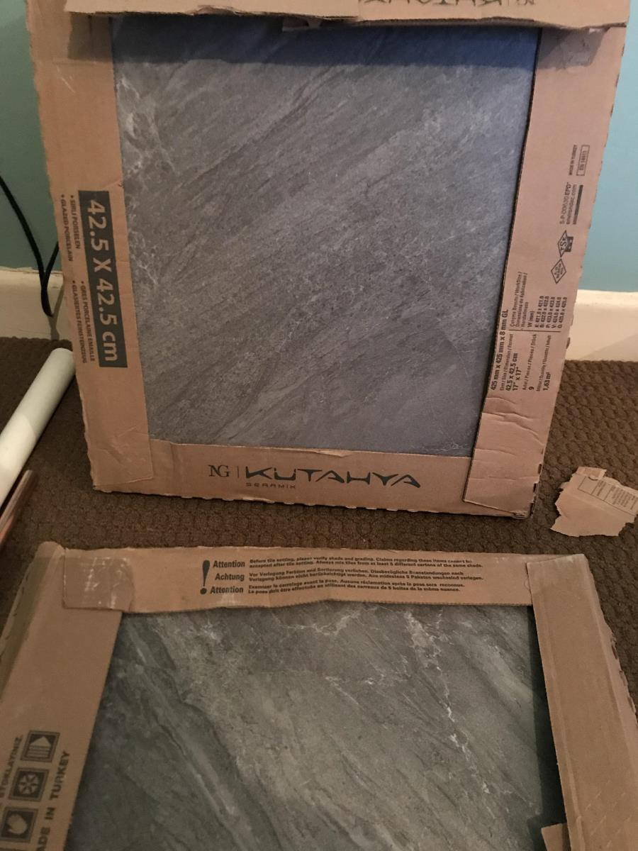 For Sale: Grey Colour Porcelain Tiles Unopened boxes Image 2