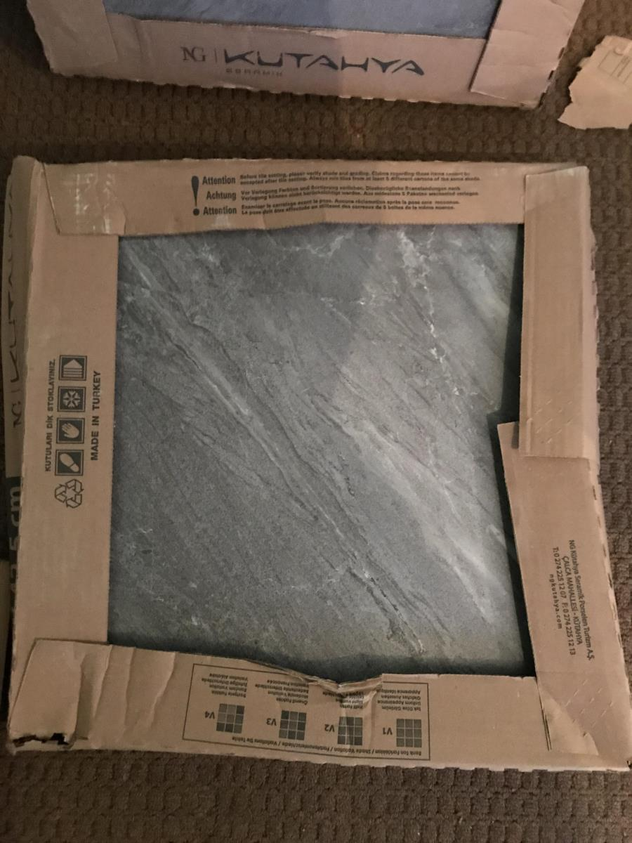 For Sale: Grey Colour Porcelain Tiles Unopened boxes Image 1